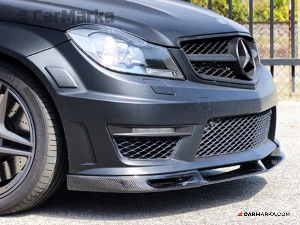 Mercedes benz c class w204 c63 amg 2012 carbon fiber lip for Mercedes benz amg kit