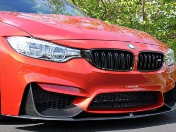BMW 4 SERIES F32, F82(M4) 2014- Carbon Fiber Front Lip Spoiler With Splitters | CM-BMM3M4CFPLP