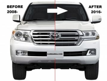 CM-LC20020016FRCONV TOYOTA LAND CRUISER 200 2016- Front Conversion 2016- Kit With Hood