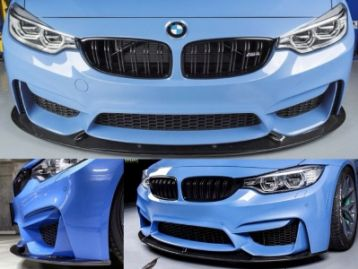 BMW 5 SERIES F10(M5) 2010- M3 and M4 Front Lip CF 3D Style | CM-BMM3M4FRLP3D