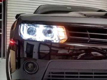 CHEVROLET CAMARO (CAMARO SS) 2013- Head lights set with angel eyes | CM-CHCM14HLSTBL