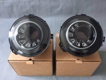 MERCEDES-BENZ G CLASS W463 (G63/G65) Head Lamps Black MNS LED | CM-W463HLMNSLED