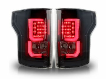 FORD F150 Tail lights set led black | CM-FF15016TLBL