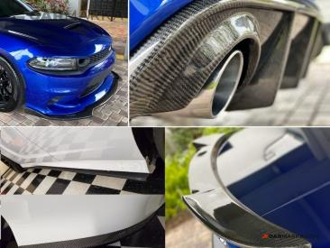 DODGE CHARGER Carbon Fiber Kit 7 Parts Set | CM-DCH15CFFLST buy carmarka.com