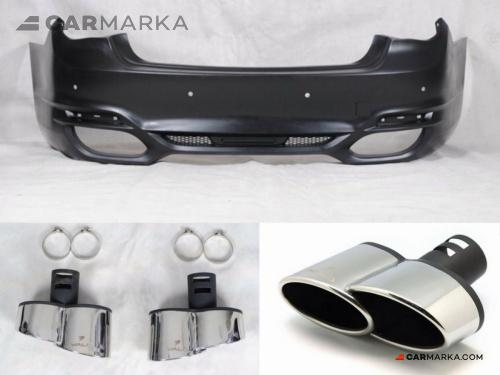 BMW 7 SERIES F01 2012- REAR BUMPER AND EXHAUST TIPS W STYLE | CM-BMF01RRBMEWL CM-BMF01RRBMEWL