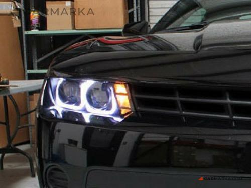 CHEVROLET CAMARO (CAMARO SS) 2013- Head lights set with angel eyes | CM-CHCM14HLSTBL buy $ 380.00
