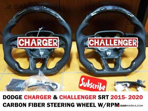 DODGE CHARGER Carbon Fiber Steering Wheel W.RPM | CM-DCH15CFSTWLM buy carmarka.com