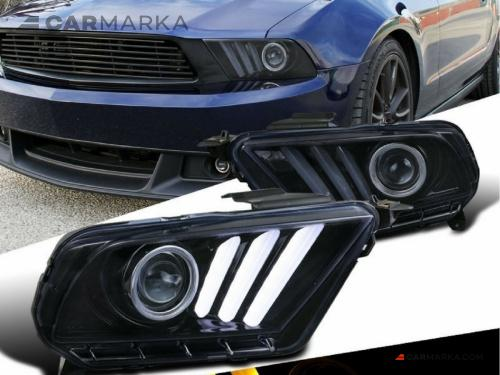 FORD MUSTANG 2010- Front head lights set facelift look | CM-FM10FRHLBFL buy carmarka.com