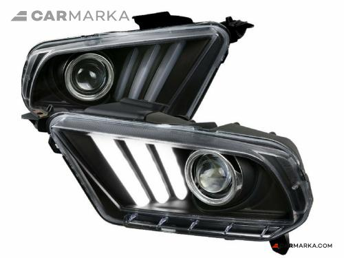 FORD MUSTANG 2012- Front head lights set facelift look | CM-FM10FRHLBFL buy $ 299.00